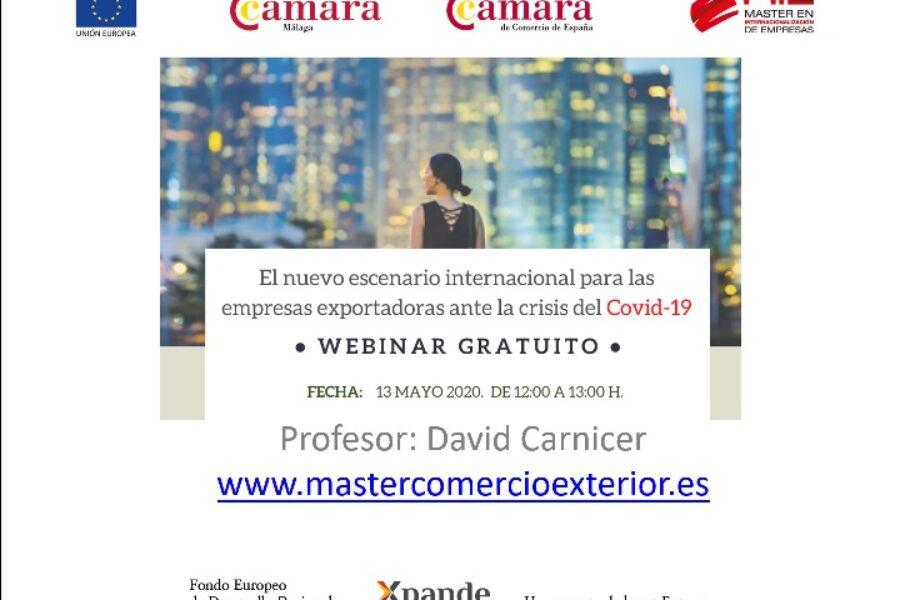Webinario en Cámara de Málaga sobre consecuencias de la pandemia para las empresas exportadoras
